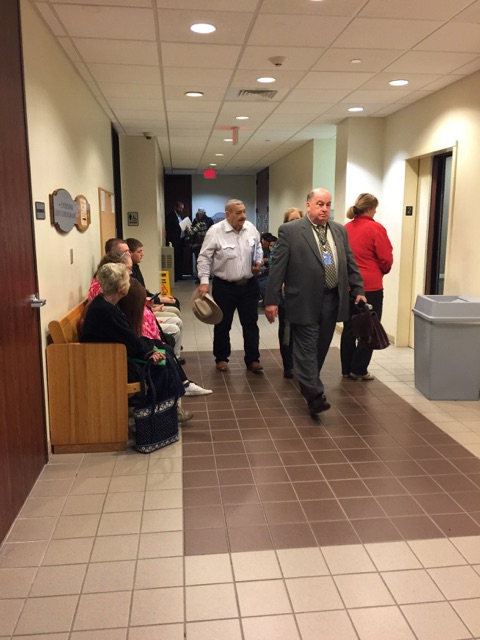Bobby Warren enters the Montgomery County courtroom for his bond revocation hearing Thursday.