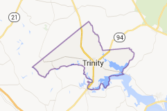 Map of Trinity ISD boundaries.