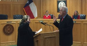 Judge Tracy Sorensen administering the Oath of Office.