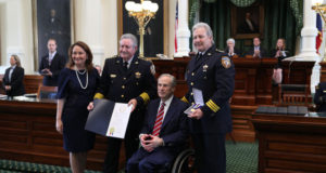 Governor Greg Abbott today presented the Star of Texas Awards to first responders, peace officers and firefighters who have demonstrated remarkable courage and heroism in serving and protecting their communities throughout the state.