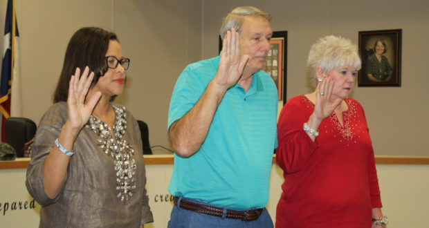 Trustees sworn in today were Rissie Owens, J.T. Langley and Tracy Stoudt.
