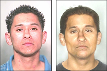 Freddie Alaniz in 2006 (left) and an age progression image (right) representing how he might look today.